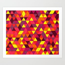 summer triangle decor Art Print