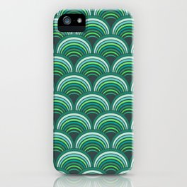 Japanese pattern forest colors iPhone Case