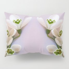 Snowdrops - First Spring Flowers Pillow Sham