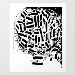 CALLIGRAPHY N°2 ZV Art Print