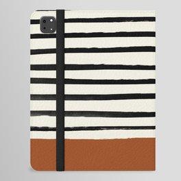 Burnt Orange x Stripes iPad Folio Case