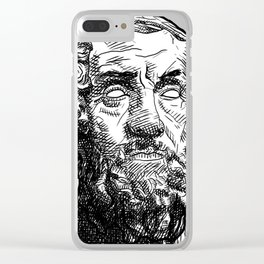 Homer Poet Clear iPhone Case