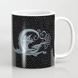Dragon Letter E, from Dracoserific, a font full of Dragons. Coffee Mug