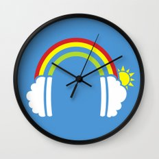 Rainbowphones Wall Clock