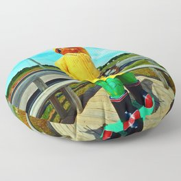 Fishermen's Mascot Floor Pillow