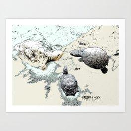 Turtle Caucus Art Print