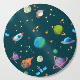 Space pattern Cutting Board