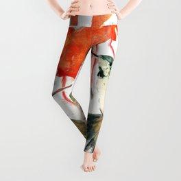 Hummingbird Watercolor Leggings