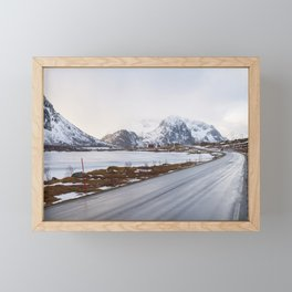 The road in the mountains Framed Mini Art Print
