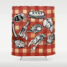 Cajun Food! Shower Curtain