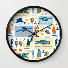 Nautical Knots Wall Clock