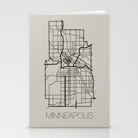 minneapolis Stationery Cards featuring Minneapolis by linnydrez