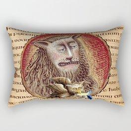 Medieval Lion And Owl Rectangular Pillow