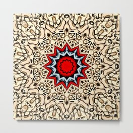 Twelve Points Mandala Metal Print