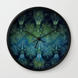 The Jelly Squids Are Coming Wall Clock