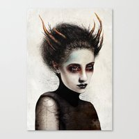 death Canvas Prints featuring Death by Feline Zegers