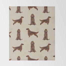 Irish Setter dog breed pet pattern gifts for irish setters Throw Blanket