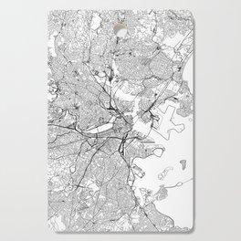 Boston White Map Cutting Board