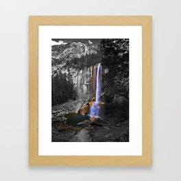 Vernal Falls, Yosemite National Park, Fall 2013, Selective Color Framed Art Print