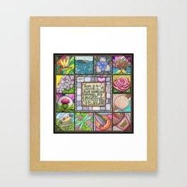 My Patchwork Friendship Squares Framed Art Print