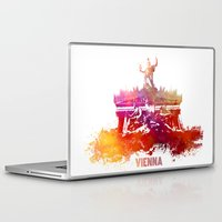 vienna Laptop & iPad Skins featuring Vienna skyline by jbjart