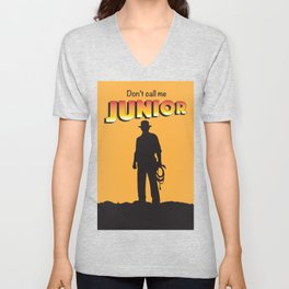 Don't Call me Junior by Indiana Jones Unisex V-Neck