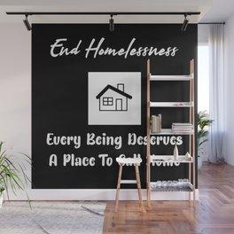 End Homelessness Text Design Wall Mural