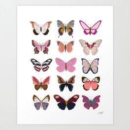 Pink Butterflies Art Print