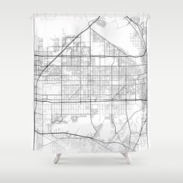 Minimal City Maps - Map Of Fontana, California, United States Shower Curtain