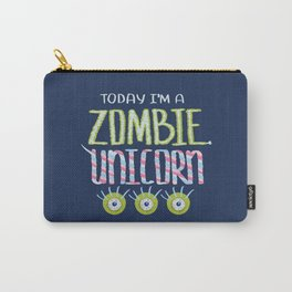 Zombie Unicorn I Am Carry-All Pouch