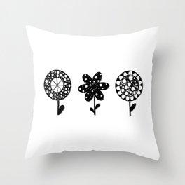 Stylized flowers Throw Pillow