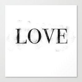 Love - Distressed - Black Letters Canvas Print