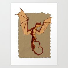 Here be dragons Art Print