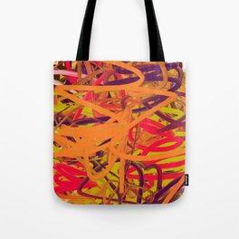 Orange Purple Green & Pink Abstract Tote Bag