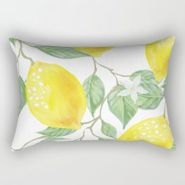 Lemons and Flowers Rectangular Pillow