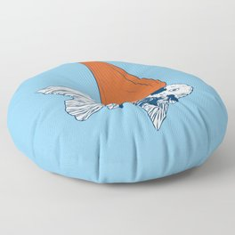 Big fish in a small pond Floor Pillow