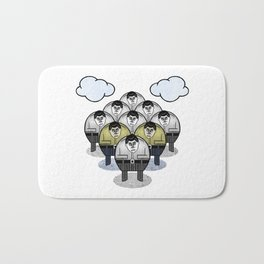 TWO GATHER WITH CLOUDS Bath Mat