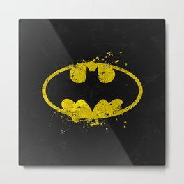 Bat man's Splash Metal Print