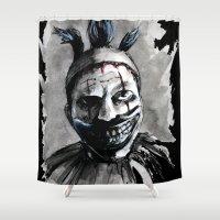 clown Shower Curtains featuring Clown  by Raquel Rojas Gómez
