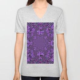 Encrusted Amethyst Purple Gems February Birthstones art Unisex V-Neck