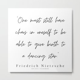 54    | 200319 |  Friedrich Nietzsche Quotes Metal Print