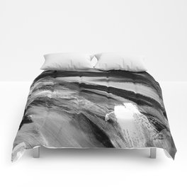 Abstract Artwork Greyscale #1 Comforters