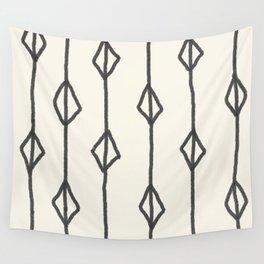 Hand-drawn diamond pattern Wall Tapestry