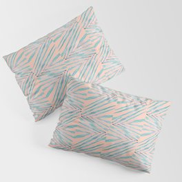 Palm Leaves Coral Pillow Sham