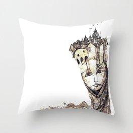 Ciudad fantasma Throw Pillow
