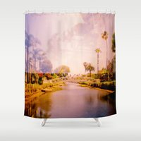 venice Shower Curtains featuring Venice by Elina Cate