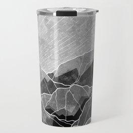 Mountains of silver and grey Travel Mug