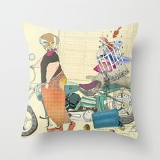 HE SELLS BEAUTIFUL FISHES Throw Pillow