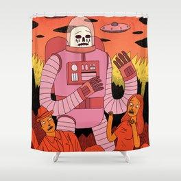 Alien Invader Shower Curtain