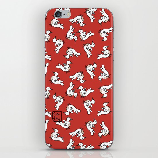 Birds {All birdie around - red} iPhone Skin